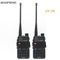2pcs New Baofeng Black UV 5R Two Way Radio Dual Band 136 174MHz 400 520 MHz