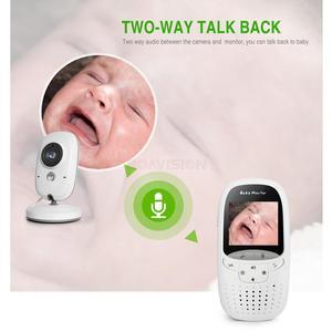 Image 4 - Bezprzewodowa elektroniczna niania 2.0 Cal niania kamera 2 Way Talk Night Vision IR LED monitor temperatury niemowlę dziecko Sleep Cam VB602