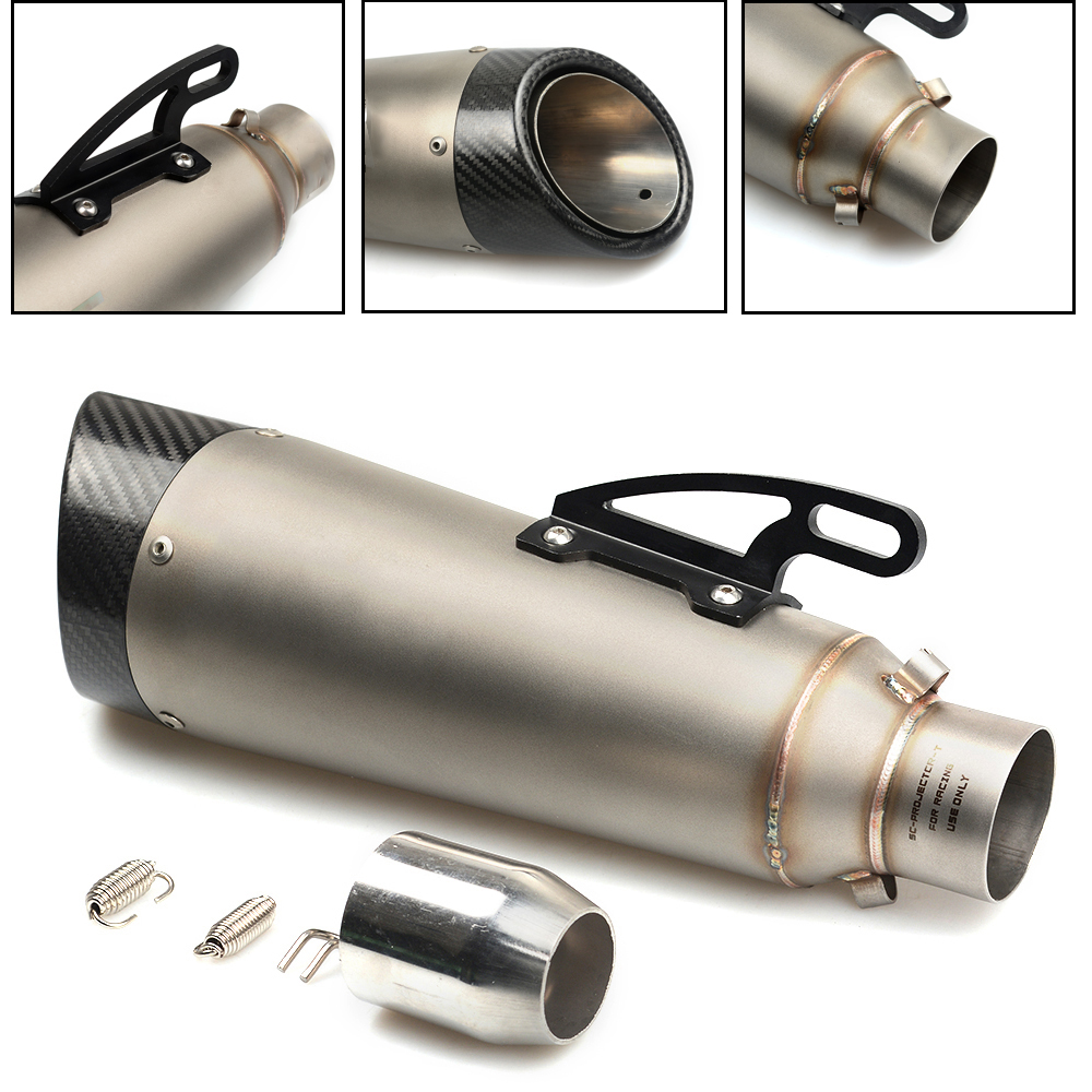 Universal Modified Motorcycle Exhaust Pipe Moto Muffler For BMW S1000RR F R K 650 700 800 1200 1300 GS R RS Adventure 51mm universal modified motorcycle exhaust muffler pipe silencer pipe for bmw k1200s k 1200 s s1000r s1000rr f800gs yamaha fz09