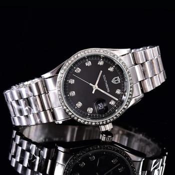 SOUTHBERG Rhinestone Top Luxury Brand Women Watch Quartz Lady Wrist Watch Women Diamond Bracelet Clock montre femme дамски часовници розово злато