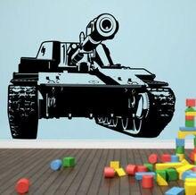 Tanque Militar Del Ejército Del Envío libre Para Niños Sala de Arte Decorativo Etiqueta de La Pared de Vinilo Removible Pared Mural Para La Decoración Del Hogar Y-651