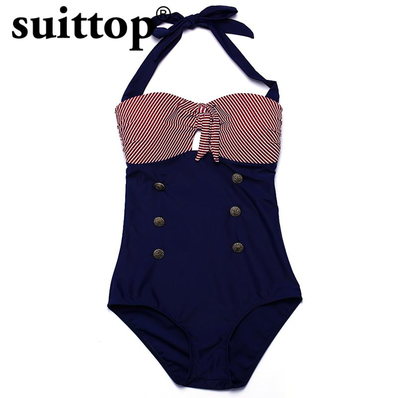 suittop Swimsuit Women 2017 Summer Maillot De Bain Femme New Sexy One Piece Mature Swimwear Plus Size Swimming Suit For Women lyseacia triangle swimwear one piece swimsuit women retro print elastic trackless swimming suit for women maillot de bain femme