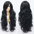 "32"" 80cm Beautiful Women's Curly Wavy Wigs Natural Black Cosplay Wig Heat Resistant Party Costume Hair Cheap Anime Wigs"