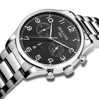 Männer Military Edelstahl Sport Uhren 100 M Wasserdichte Sub Zifferblatt Arbeits Mode Armbanduhren Männlich Uhr Multifunktions Uhr