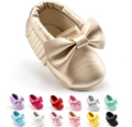 colorful kids shoes Microfiber leather tassels baby girl shoes soft bottom autumn bow baby toddler shoes indoor shoes Soft Sole