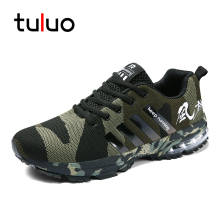 TULUO 2019 Man Trendy Camouflage Shoes Comfortable Jogging Sneakers Male Sport Trainers Running Shoes size 36-46