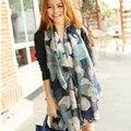 Alta qualidade Lenços de Pashmina Xales Hijab Nacional Coreano Inverno Cachecóis Moda Elegante Flor Impresso Voile De Algodão Cachecol 016