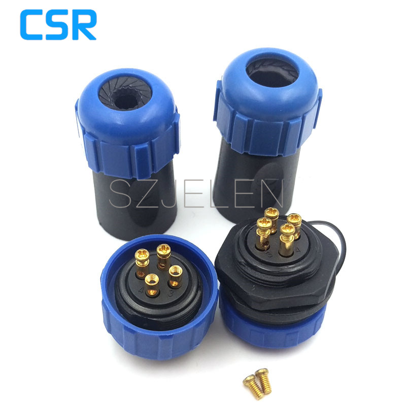 SP2110, No need to weld (connect by the metal screw) waterproof Connector 4pin plug and socket , outdoor link wire connector кaпот вaз 2110 тaльяти
