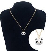 Fashion Animal Panda Necklace Cute Mini Boys Girls Animal Pendant Women Zinc Alloy Necklace Jewelry Free Shipping cute panda rhinestoned pendant necklace for women
