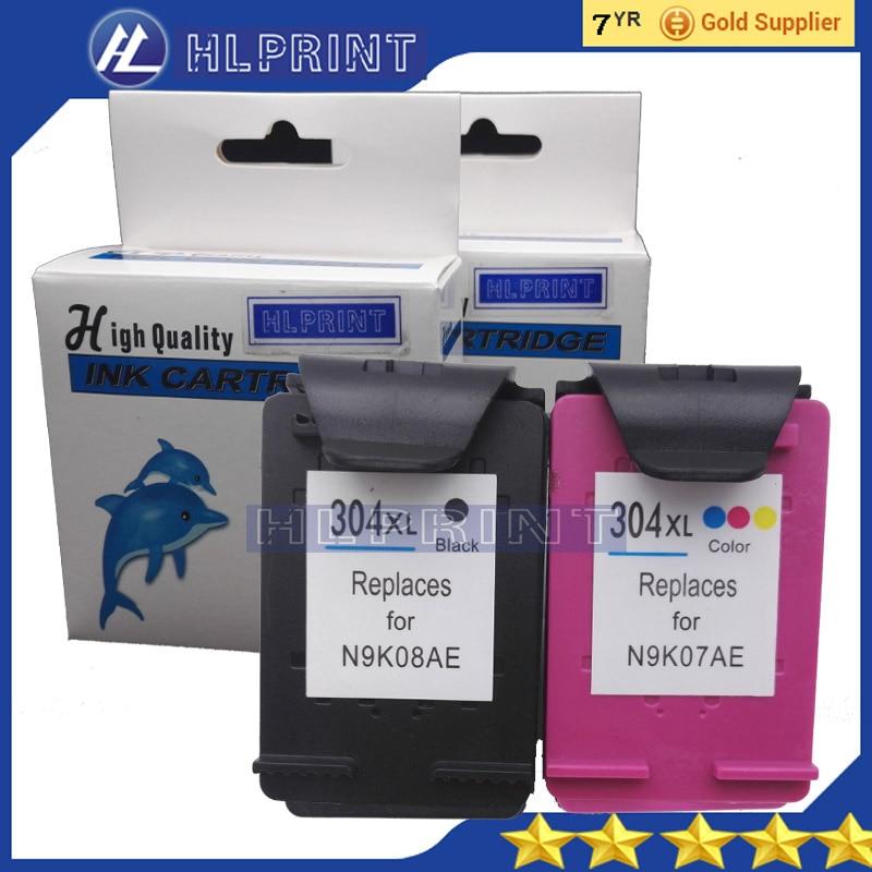 2 pz N9K08AE hp304XL cartuccia di inchiostro Compatibile per HP Deskjet 3720 3721 3723 3724 3730 3732 3752 3755 3758 All-in-One Printer
