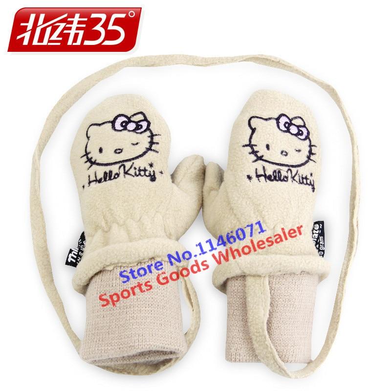 cd946145e 2017 New kids Winter professional Girls Boys Hello Kitty Warm gloves White  Cute Snow Ski Gloves For Children-in Skiing Gloves from Sports &  Entertainment on ...