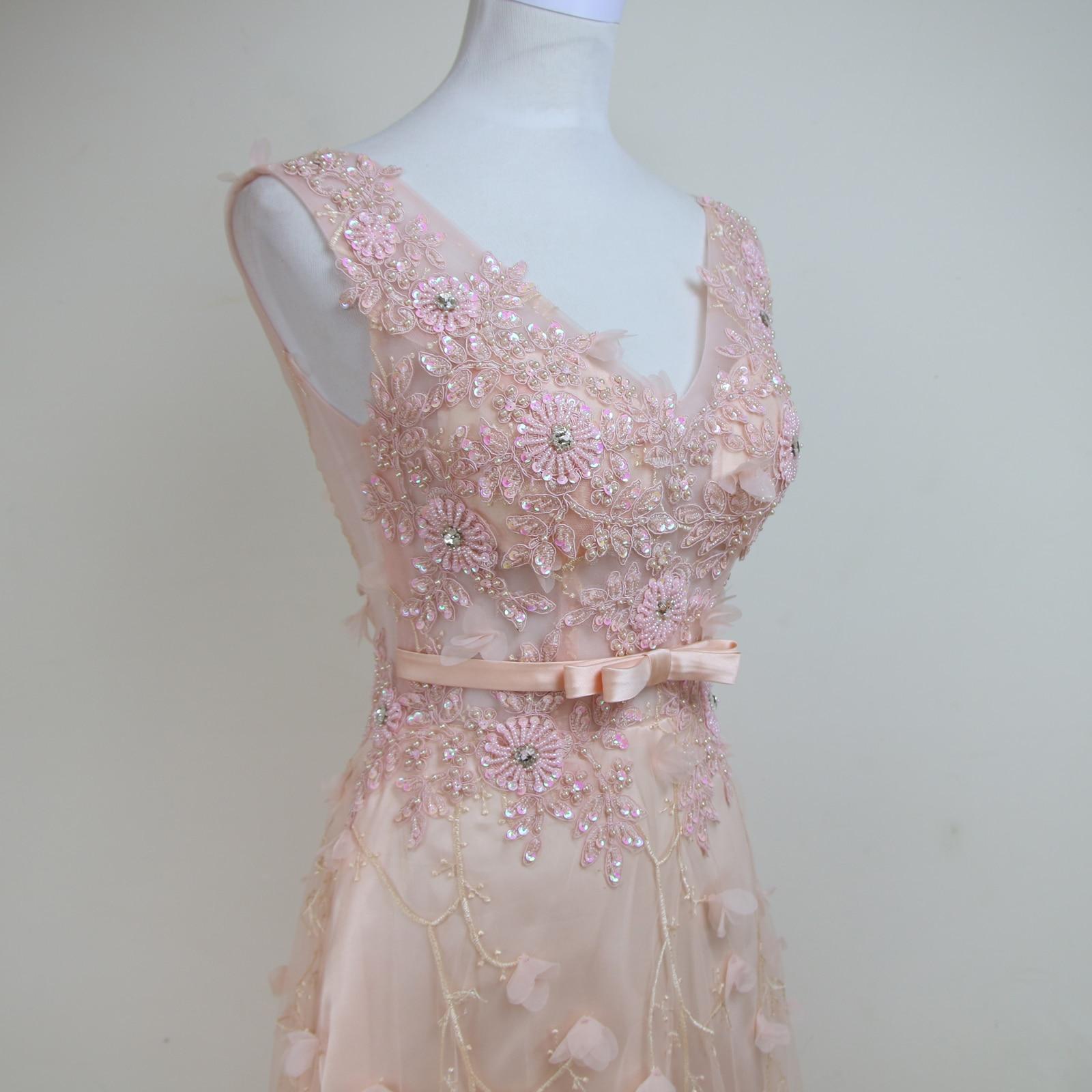 Rosa Abendkleid Perlen Strass Abend kleid kleid Rotes Formales