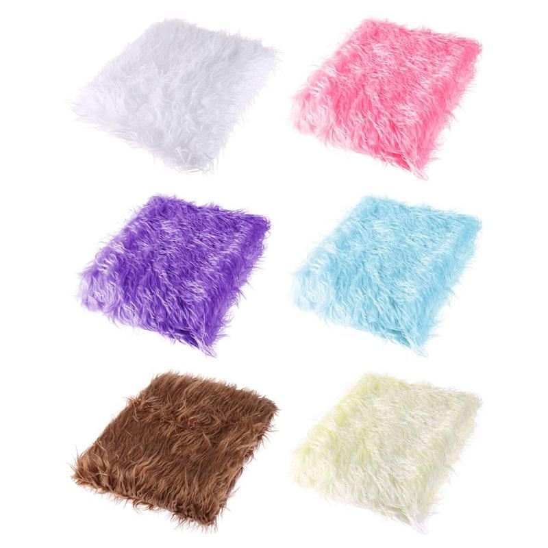 95 X 76cm Newborn Baby Infant Photo Blankets Faux Fur Rug