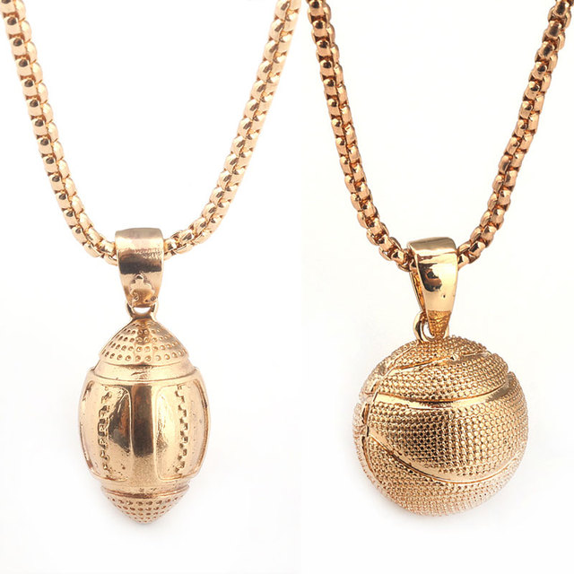 2Style Oval Basketball Necklace