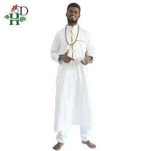 Image 4 - H & D الملابس الأفريقية الرجال 2020 رجل dashiki قميص أفريقيا بازان الثراء الزي الملابس القمم بانت الدعاوى vetement الأفريقية صب أوم