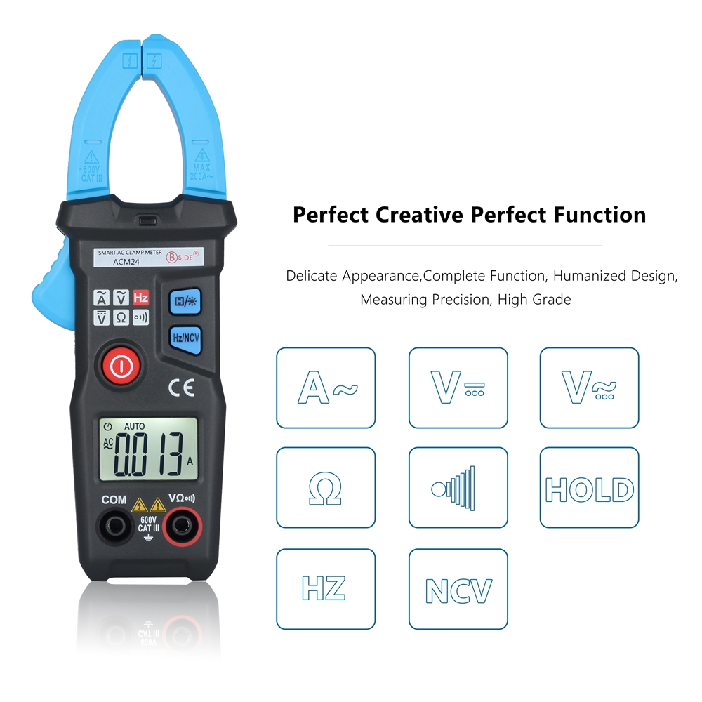 цены  Digital Clamp Meter Multimeter Auto Range Current AC/DC Voltage 6000 Counts Voltage Amp Resistance Tester Ammeters