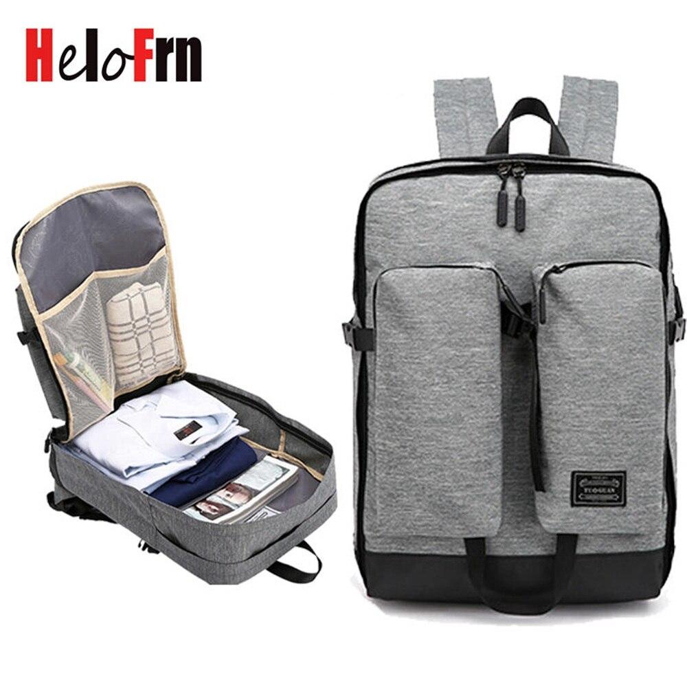 HeloFrn Soprt Men Women Canvas Backpack Large Capacity Laptop Sport Bag Teenager Weenend Travel Mochila