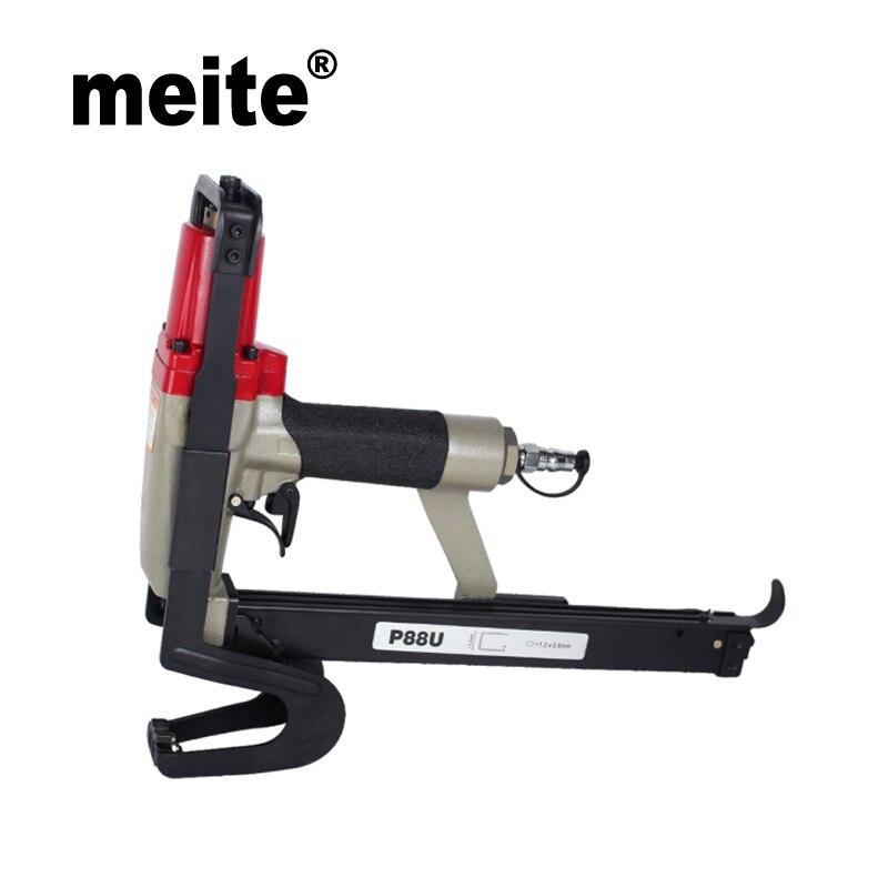 Meite P88U 20GA 1/2 heavy duty pince agrafeuse agrafage pneumatique pince cloueuse pistolet professionnel pour fixer matelas Sep.12th. Mise à jour