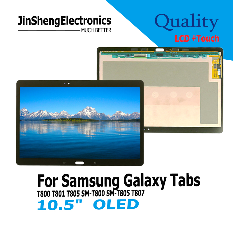Quality For Samsung Galaxy Tablet TabS T800 10.5 OLED LCD Display replaceme+Touch Screen Digitizer Assembly