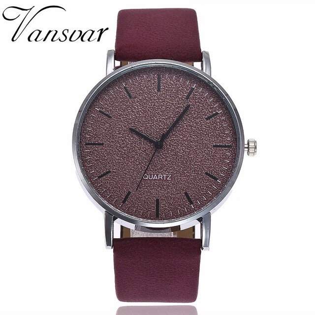 Drop Shipping Fashion 2018 Unisex Watches Women Men Casual Leather Hour Quartz A