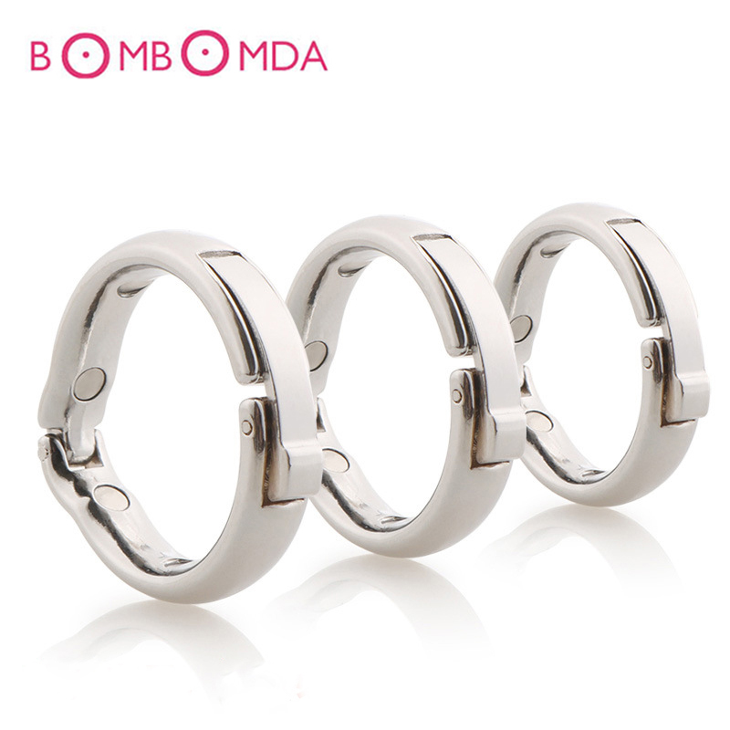 Adjustable Penis Ring Adult Product Stainless Steel Cock Ring Delay Ejaculation Sex Toys for Men Penis Ring Male Chastity Device black emperor sm interest stainless steel male ccb chastity lock adult toys penis ring anal plug