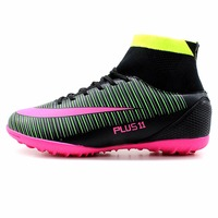 RS Men S High Ankle Turf Sole Indoor Cleats Football Boots Shoes Soccer Cleats
