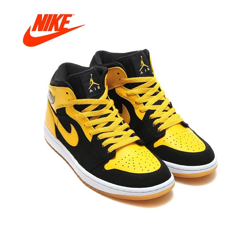 Air Jordan 1 Mid Men's Basketball Shoes Original New Arrival Authentic Nike AJ1 Joe Sneakers Outdoor Non-slip Shoes