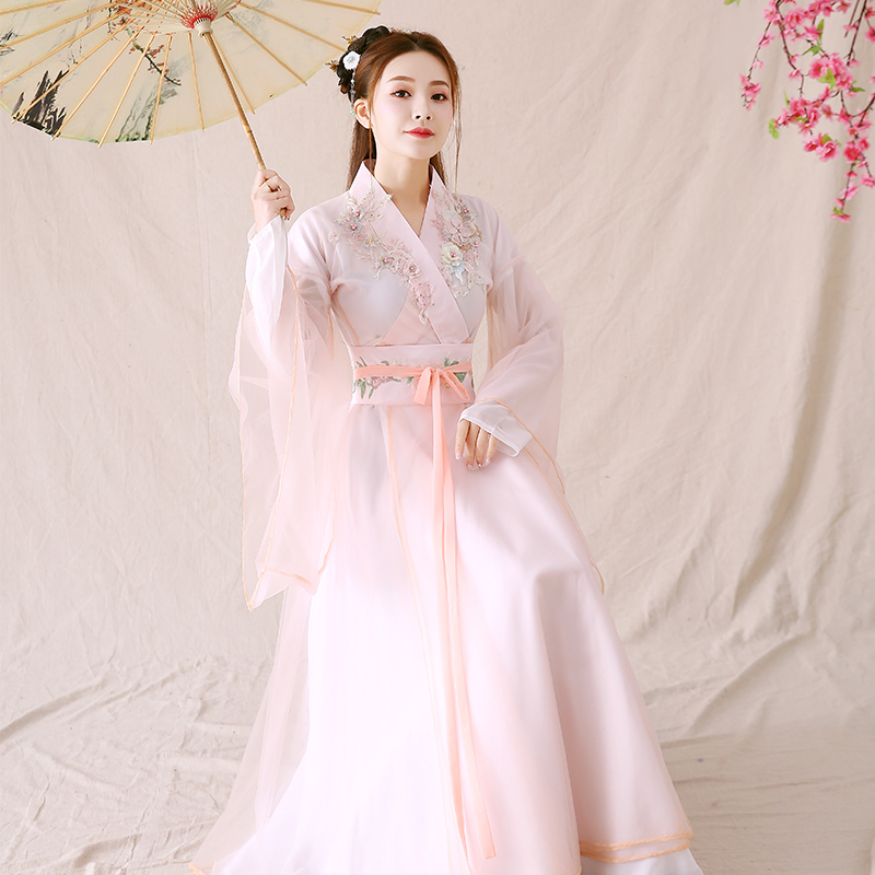 2020 Chinese Dress Hanfu Women Chinese Dress China Ancient Fairy Costume Traditional Hanfu Female  Fairy Dynasty Costume Ancient