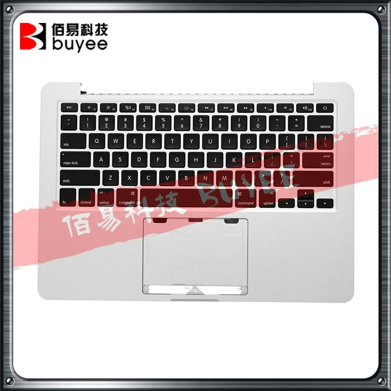 Original NEW A1502 Palm Rest Late 2013 Mid 2014 For Macbook Pro Retina 13'' Top Case US Keyboard Backlight ME864 ME865 ME866 original new laptop a1708 palm rest repair for macbook retina pro top housing case cover us layout 13 inch 2016 year replacement