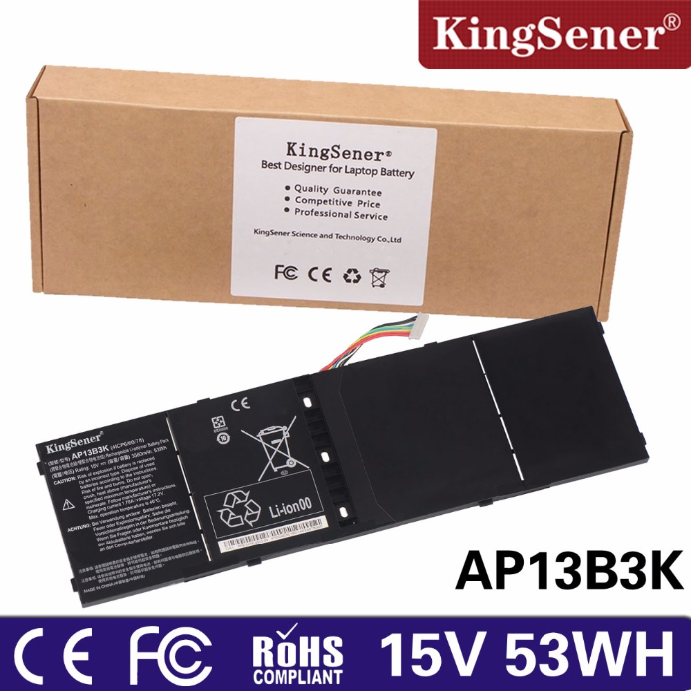 KingSener New AP13B3K Laptop Battery For Acer Aspire R7-571 R7-571G R7-572 AP13B3K V5-573PG V7-481G V7-581G купить в Москве 2019