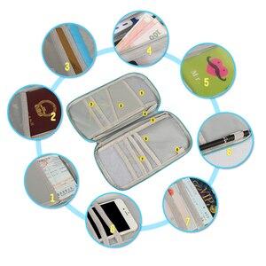 Image 3 - 多機能トラベルパスポートパッケージクレジット Id カード現金財布多色収納バッグ財布文書ジッパー