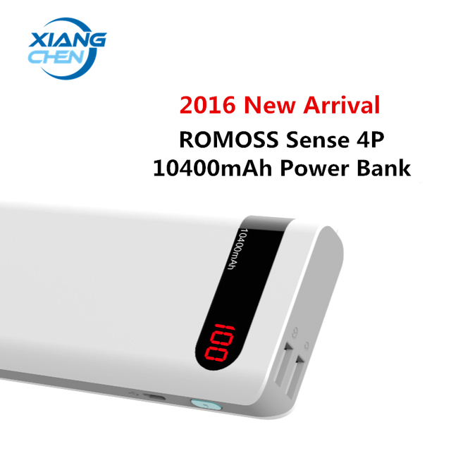 2016 Новое Прибытие в Исходном ROMOSS Power Bank 10400 мАч Sense 4 P 18650 Powerbank Резервного Питания Зарядное Устройство Внешнего Аккумулятора Телефона пакет