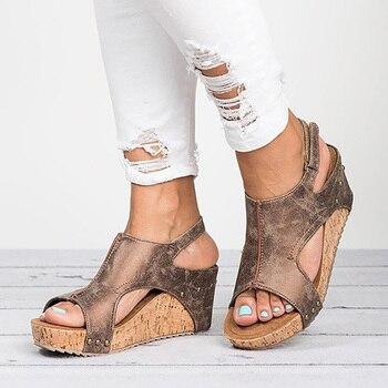 Sandalias Para RomaZapatos Cómodos PlanasPlataforma De Verano MujerCuña Ivmb6f7gyY