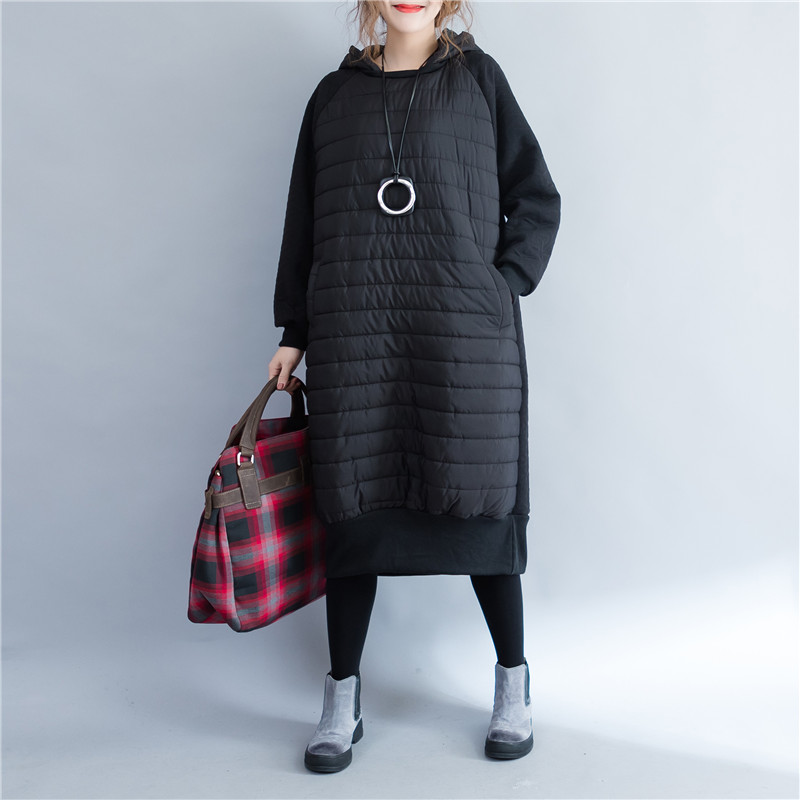 Women Jacket 2019 Autumn Winter New fashion Parkas Padded ladies coats long quilted jackets plus size patchwork outerwear coat