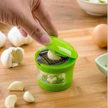 1 PC wyciskacz do czosnku wielofunkcyjny szlifowania czosnek kruszarki krajalnica warzyw narzędzie do gotowania ręczna młynek do kruszenia