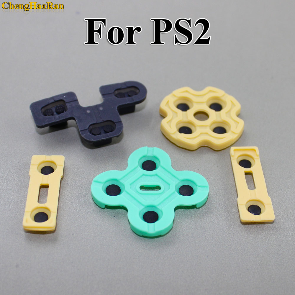 ChengHaoRan 2pcs Replacement Silicone Rubber Conductive Pads R2 L2 buttons Touches For Playstation 2 Controller PS2 Repair Parts-in Replacement Parts & Accessories from Consumer Electronics