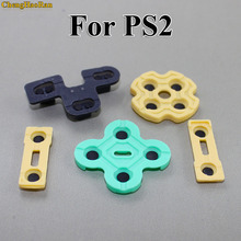 ChengHaoRan 2pcs Replacement Silicone Rubber Conductive Pads R2 L2 buttons Touches For Playstation 2 Controller PS2 Repair Parts hothink replacement for sony playstation 2 ps2 slim scph 90008 90004 9000x drive motor engine spindle repair part
