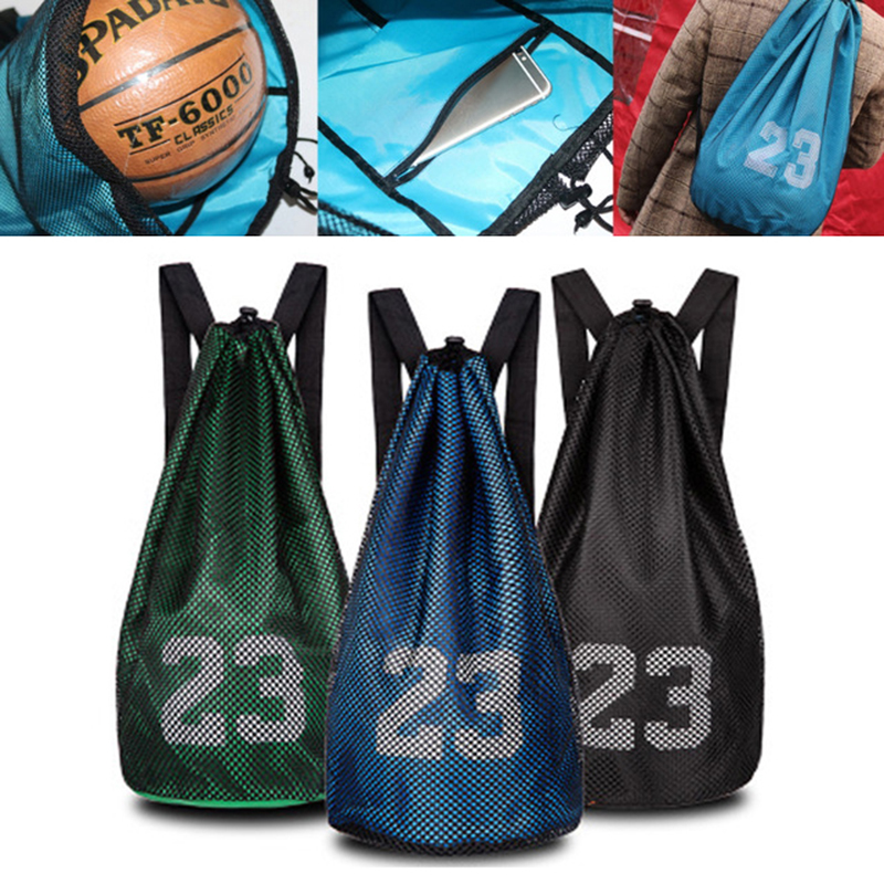 Outdoor Sport Shoulder Basketball bags For Football Volleyball Soccer Bag Mash pack Fitness Bucket Bag Backpack For Men