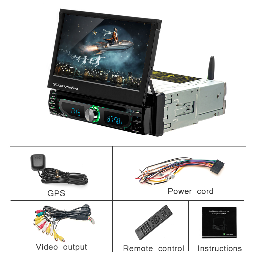 topbox car radio android gps navigation 12v 1 din in dash autoradiomiddot 7 inch 1 din