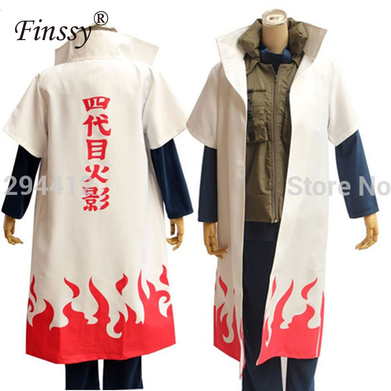 Strongest Four generations of Naruto Yondaime Hokage Cosplay Costume Fancy Dress Halloween Party Clothes