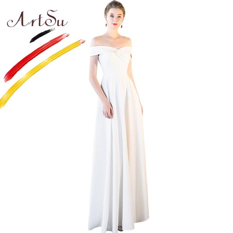 Schulterfrei Bodenlangen Artsu Abendkleid Elegantes Ausschnitt V Damen Maxi Party Prom Sexy D uFlTK1Jc3