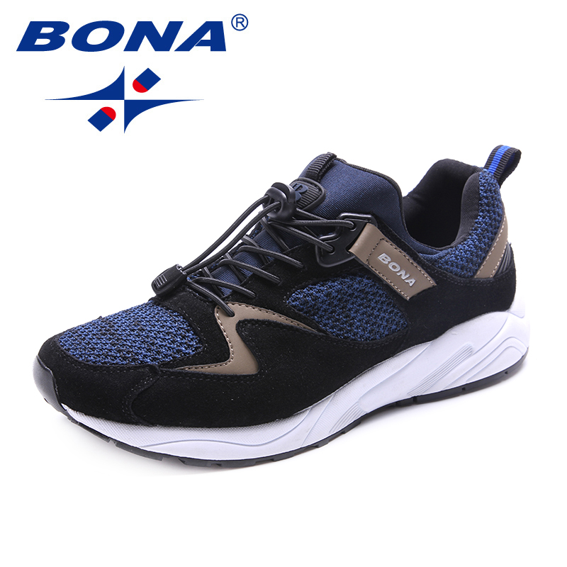 BONA New Typical Style Men Running Shoes Lace Up Men Athletic Shoes Outdoor Jogging Sneakers Comfortable