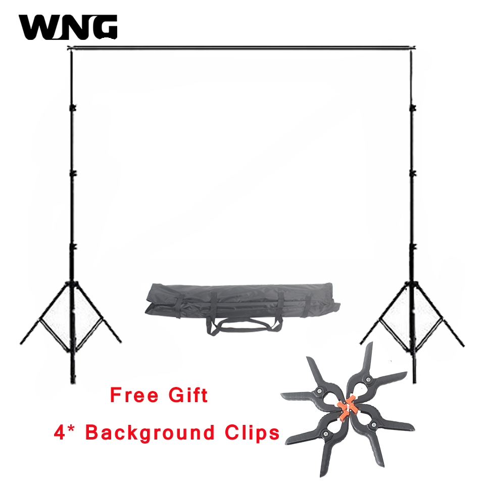 2.6m*3m/8.5ft*9.8ft Photo Background Backdrop Support Stand System Kit Set Photography Accessory Photo Background Backdrop Stand 2 8m x 3m pro adjustable background support stand photo backdrop crossbar kit photography stand 3 clips for photo studio