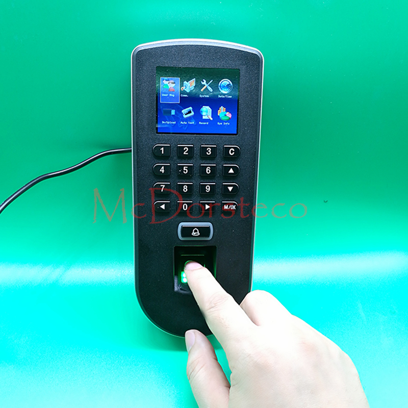 Biometric fingerprint access control F19 fingerprint + keyboard +13.56Mhz IC card access control system M1 biometric Door Locker biometric fingerprint and 13 56mhz ic card access control fingerprint time attendance and door access controller m1 card