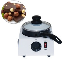 SUCREXU Electric Chocolate Melting Machine Ceramic Non-stick Single Pot Tempering Cylinder Melter 110V/220V CE