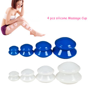 Image 1 - 2020 4Pcs di Umidità Assorbitore di Umidità Anti Cellulite Vuoto Coppettazione Tazza Del Silicone Famiglia Terapia di Massaggio Del Corpo Del Viso Coppettazione Tazza Set 4 formato