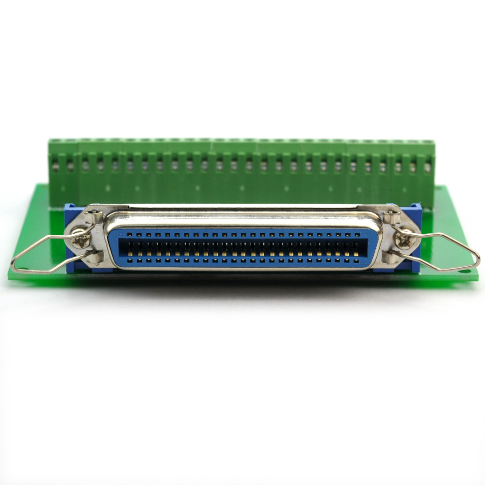 50 Pin 0 085 Centronics Female Ribbon Connector Breakout Board