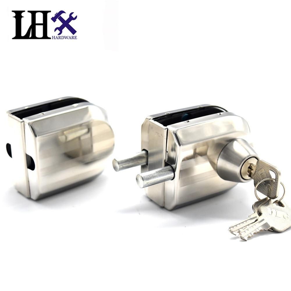 Lhx Cmms239 Hardware 3 Keys Two Pieces Interior Door Lock Glass Window Stainless Steel Locks