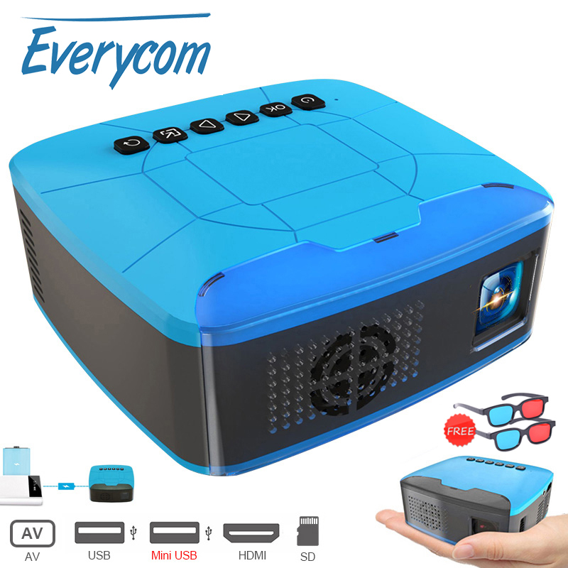 Everycom U20 Mini Projectors USB HDMI AV Video Portable Projector For Home Theater Movie Beamer Proyector