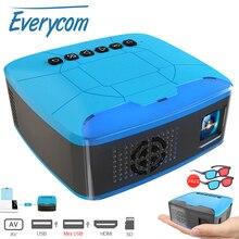 Everycom U20 мини-проекторы USB HDMI AV видео портативный проектор для дома театральный фильм Beamer Proyector Portatil